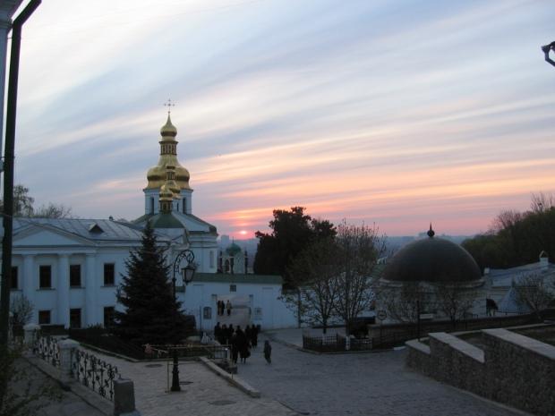 Lavra Pecerska Kiev, ora 6 dimineata