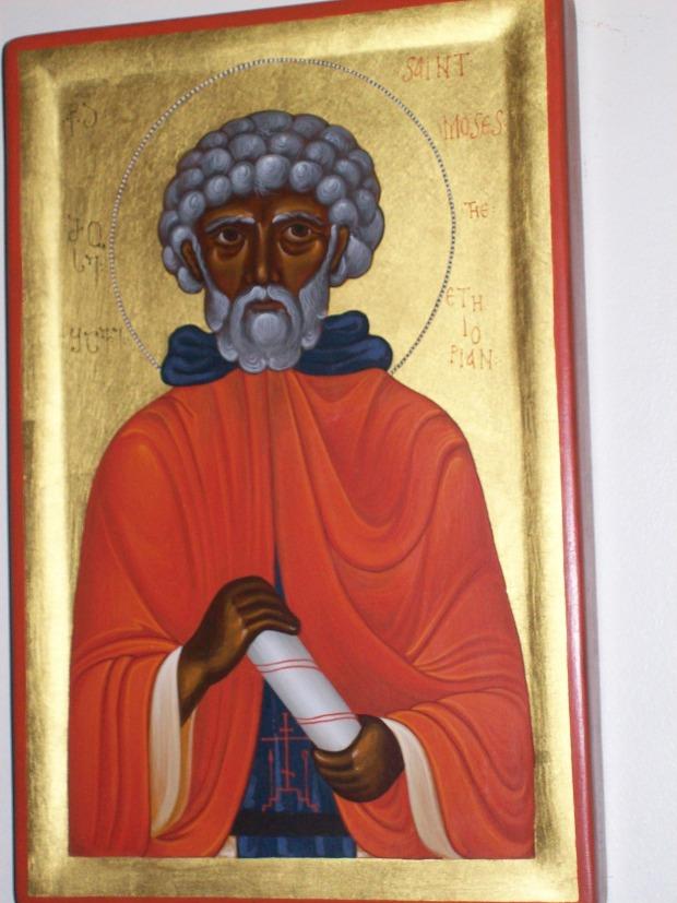 Icoana Sf Moise cel Negru, din Manastirea Platina - SUA