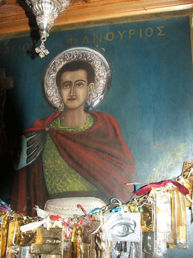 Icoana facatoare de minuni a Sf Fanurie, Insula Rodos