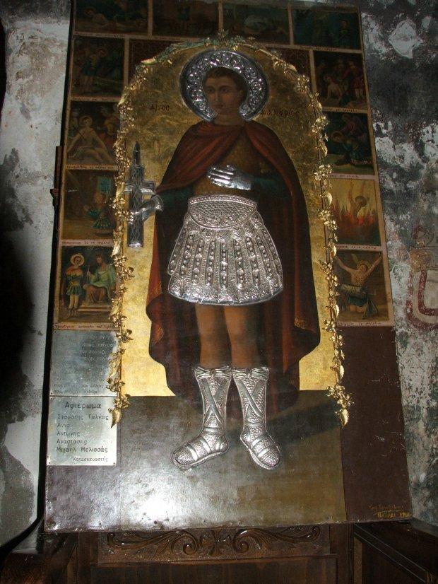 Icoana veche a Sf Fanurie, gasita in biserica din Insula Rodos ( model pt icoana nou pictata)