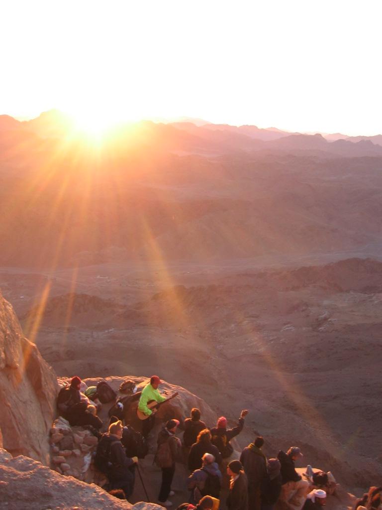 Rasarit de soare pe Muntele Sinai