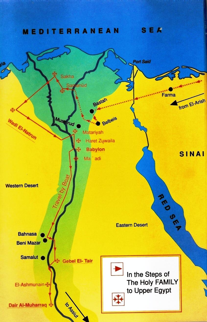 Traseul Sfintei Familii in Egipt