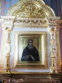Racla si icoana Sf Cuv Antipa, de la Man Valaam, Rusia