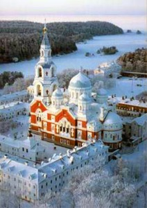 Valaam Monastery in winter