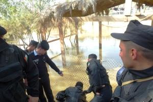 27, ora 12,43, acces controlat la apa Iordanului ( malul iordanian)