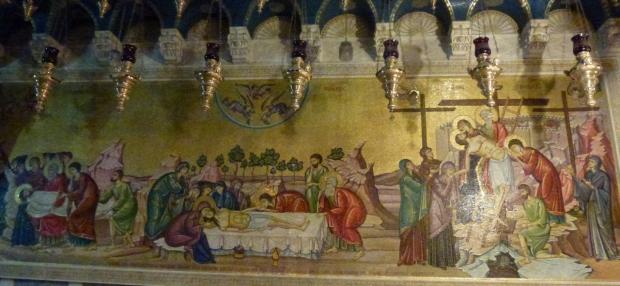 7 Mozaicul de la Piatra Ungerii (coborarea de pe Cruce, Piatra Ungerii, Punerea in Mormant)